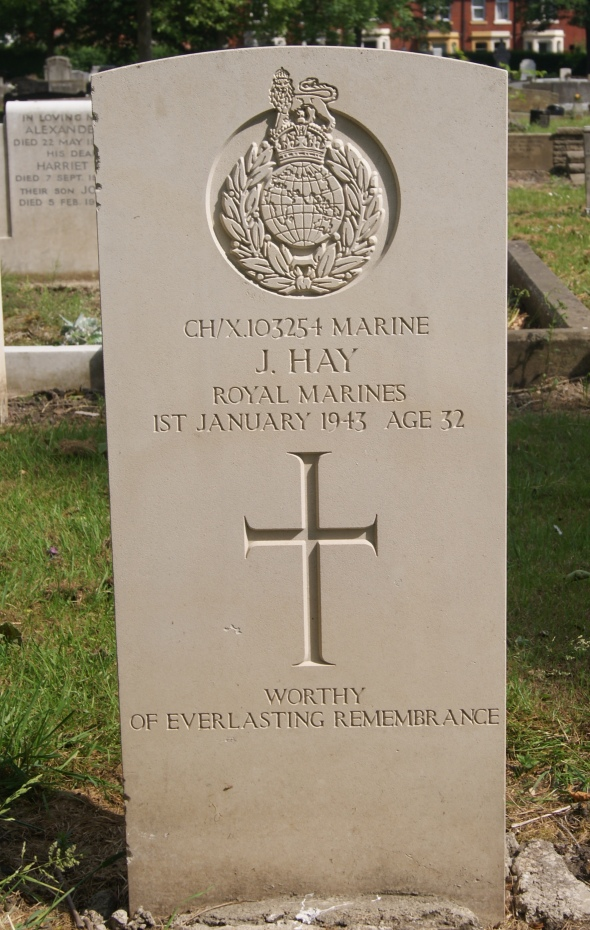 J. Hay, January 1st 1943, Newcastle All Saints Cemetery