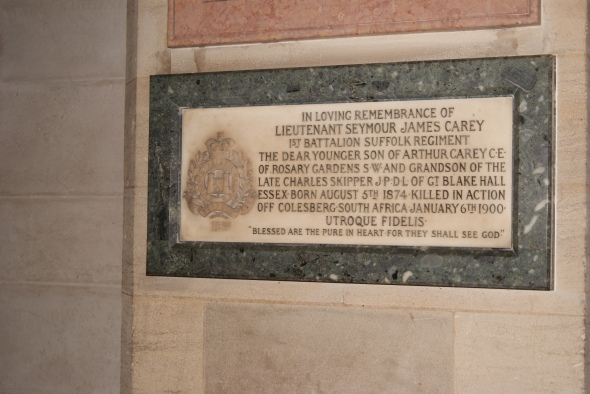 Lieutenant Seymour James Carey, Kensington