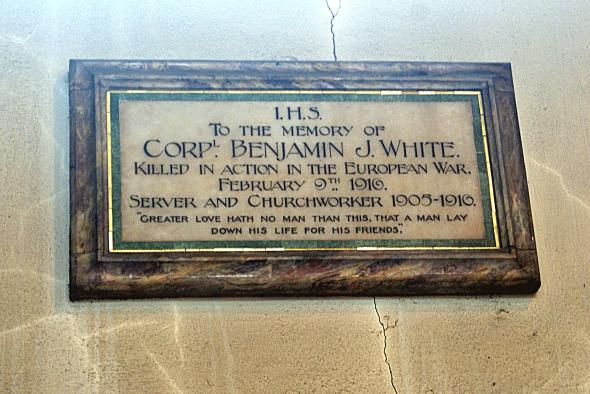 Corporal Benjamin J White