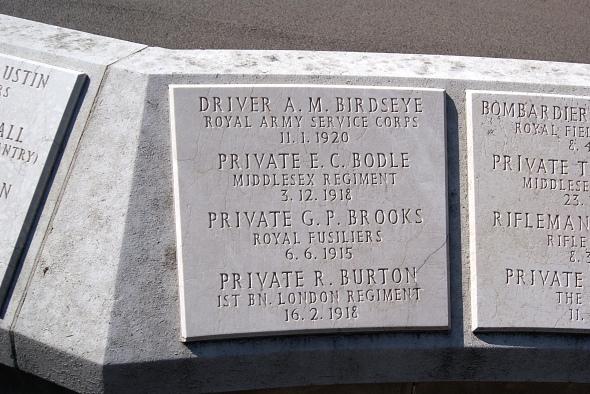 Private R Burton